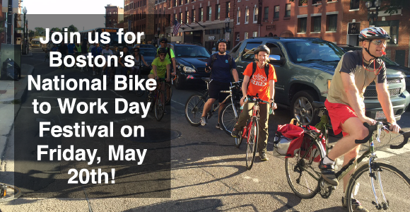 Boston's National Bike to Work Day Festival